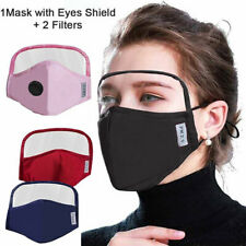 Men Women Cotton Outdoor Windproof Face Protective Face Mask with Eyes Shield