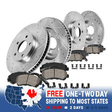 One Year Warranty Stirling For Both Left and Right 2013 for Mini Cooper Countryman Rear Premium Quality Disc Brake Rotors And Ceramic Brake Pads -