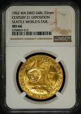 1962 WA NGC MS-66 Seattle Worlds Fair US Mint Medal Bronze SWO-34Bc