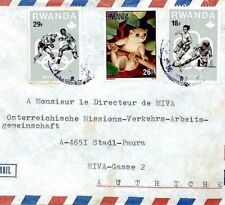 Cm224 Rwanda Cover 1976 Olympics Issues Missionary Miva Air Mail Football Boxing
