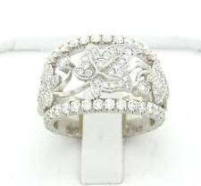 PLATINUM DIAMOND WEDDING BAND ANNIVERSARY RING FLORAL DESIGNER RING