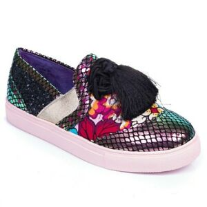 Poetic Licence By Irregular Choice 'Dazzle Tassel' (B) Slip on Shoes Flats