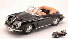 Porsche 356 B Cabriolet 1961 Black 1:24 Model 22078 BBURAGO