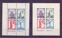 Frz. Zone Baden 1949 - Block 1 A + B gestempelt geprüft (946)