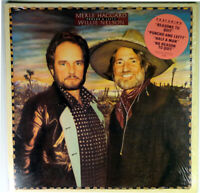 MERLE HAGGARD-WILLIE NELSON-PONCHO & LEFTY-1982 EPIC STEREO LP
