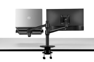 """2 in1 360º turn height adjustable laptop(11-17"""")  & Monitor(13-27"""") stand mount"""