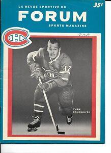 1964-65 Montreal Canadiens-Black Hawks Program Habs Edge Hawks NICE!!