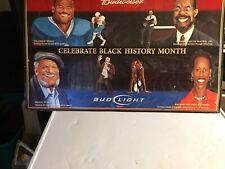 "Budweiser Bud Light Black History Month Mirror Sign Moon Foxx Joyner 26"" x 24"""