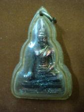 Phra Authong Buddha Statue Bronze Talisman Buddhist Pendant Real Thai Amulet