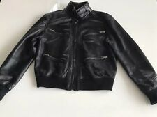 Dolce & Gabbana Leather Jacket Italian 56 3XL 100% Authentic Immaculate