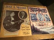Vernon Dalhart Carson Robison Adelyne Hood 1928 Country Music Songbook