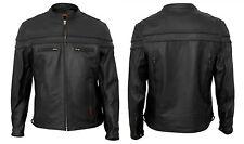 Interstate Leather Men's Scooter Jacket Black 4XL I5373