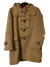 Gloverall - Original English Duffle Coat - Tan Wool Toggles and Hood - Mens 46