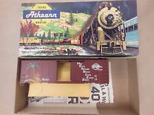 HO SCALE ATHEARN/ENGLISH'S MO-PAC 'HERBIE SAFETY CAR' 40' BOX CAR BLUE BOX KIT