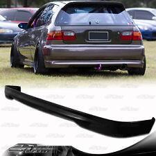 Type R Style Polyurethane Rear Bumper Lip Wing For 92-95 Honda Civic Hatchback