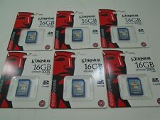 Lot of 6 Kingston 16 GB SD Class 6 Ultimate 100X 15MB/s SD6G2/16GB