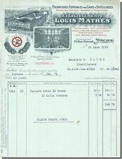 Rechnung - Louis Mathes Fournitures für Kellern Brennereien in Mâcon 1918