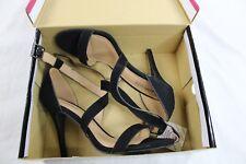 Dollhouse Heel Sandal Black Open Toe Women Size 8.5