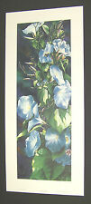 "Arleta Pech Limited Edition S/N Print ""Sun Worshipers-Morning Glories"" Floral"
