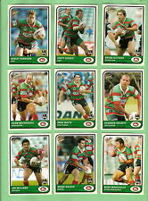 TEN SETS 2005 SOUTH SYDNEY RABBITOHS  RUGBY LEAGUE TRADITION CARDS