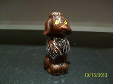 "Vintage Ceramic Figurine Red Clay Ceramic Poodle 3"" tall"