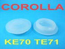 SHOCK ABSORBER CAP x 2 L&R WHITE FIT FOR TOYOTA COROLLA KE70 TE71