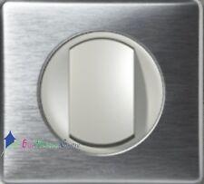 Bouton poussoir Legrand Céliane aluminium complet 67031+68301+80251+68921