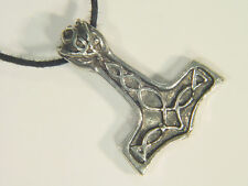 BUTW Thor's Hammer Pewter Pendant Necklace Thor Odin Viking Norse 1675A