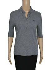 LACOSTE Gray Classic Half Sleeve Slim Fit Stretch Pique Polo Shirt Sz 38 / M $95