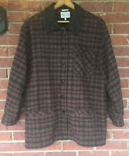 Willi Smith Coat Mohair Wool Blend Charcoal Black Brown Jacket Womens L Russia