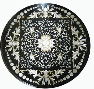 "30"" marble Table Top semi precious stones pietra dura inlay Home Furniture"