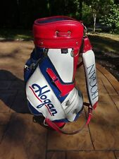 BEN HOGAN Golf Staff Bag Set Red White Blue Vibrant Colors + Raincover!