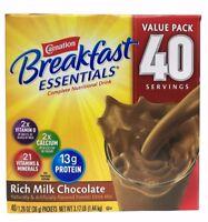 Carnation Breakfast Essentials Rich Milk Chocolate Drink Mix 3.17 LB 40 Servings