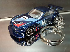 Dark Blue BMW Z4 M Key Chain Ring Coupe Diecast 3D Custom Fob
