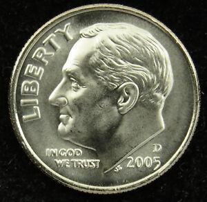 2005 D Satin Finish Uncirculated Roosevelt Dime BU (C02)