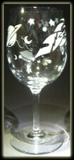 Outerspace Astronomy Retro Rocket Art Clear Wine Glass