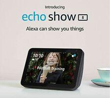 "New Amazon Echo Show 8 | 8"" HD smart display with Alexa - Charcoal Fabric"