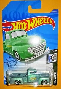 2020 HOT WHEELS 1949 FORD F1 TRUCK ROD SQUAD FROSTED GREEN PICKUP TRUCK
