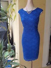 NWT $150 Alex Evenings Womens Blue Lace Cocktail Dress Petites 8P