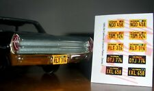 1960 - 1964 CALIFORNIA miniature LICENSE PLATES for 1/25 scale MODEL CARS
