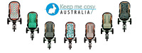 Universal Reversible Pure Cotton Baby Pram Liner by Keep Me Cosy™ Australia.
