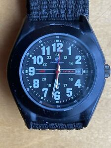 SMITH & WESSON TACTICAL WATCH BLACK SPECIAL OPS NYLON MILITARY GUN HUNTING WOW
