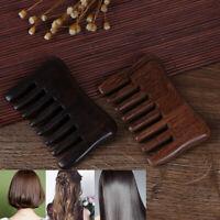 Natural Wood comb Wooden wide tooth hair comb detangler Sandalwood Waist combDN