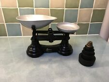 More details for vintage librasco traditional kitchen scales & 8 round weights imperial