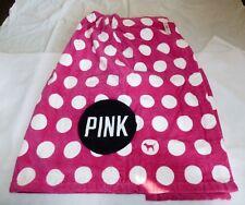 VICTORIA'S SECRET PINK Wrap Bath Towel Robe ONE SIZE NEW NWT POLKA DOT