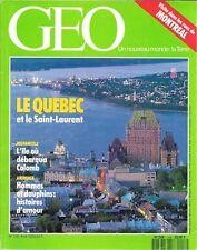 GEO N° 158--LE QUEBEC & LE SAINT LAURENT/MONTREAL/HISPANIOLA/HOMMES ET DAUPHINS