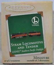 Hallmark - Steam Locomotive & Tender - Southern Pacific - Set of 2 Miniature