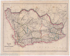 Kap der Guten Hoffnung-Cape of Good Hope-Afrika-Karte-Map 1860 Africa