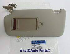 NEW 2006-2011 Hyundai Accent DRIVER SIDE Beige SUN VISOR, OEM Hyundai