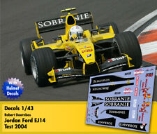 Decals 1/43 - F1 - Robert Doornbos - Jordan Ford EJ14 - China GP